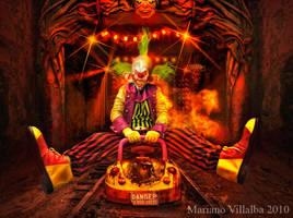 Dark ride crazy clown by mariano7724