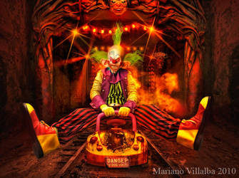 Dark ride crazy clown by mariano7724