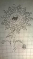 mutant sunflower sketch by tortalmortal