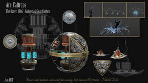 Arc-Caltrops Design Sheet by JaikArt