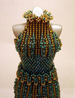 Jade SplitSkirt Bead Dress Glamour Shot by pinkythepink