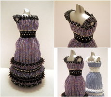 Dark Amethyst Bead Dress by pinkythepink