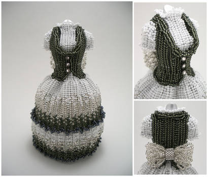 Monochrome Eumelia Eridas Bead Dress by pinkythepink