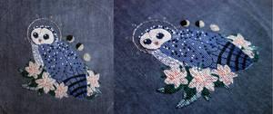 Sooty Owl Familiar (Reimena) by pinkythepink