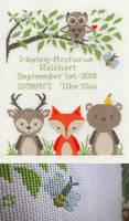 Woodland Baby Sampler by pinkythepink
