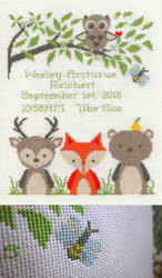 Woodland Baby Sampler by pinkythepink