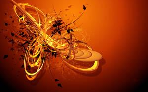 Orange Vector Wallpaper by alexc26