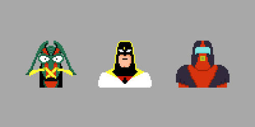 Space Ghost Gang by bfadraw
