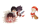 Killers and....Santa? o.O by Buryna
