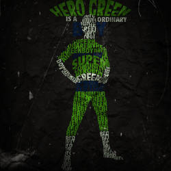 Green Hero Large Piece by Perroter