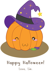Vector: Witchy Pumpkin by LinaIvelle
