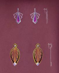 Geometric Earrings Sketch by LinaIvelle