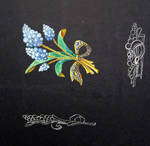 Muscari Brooch Sketch by LinaIvelle