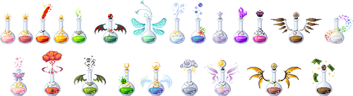 Pixel: Various Potions Commissions by LinaIvelle