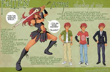 ARMA Character Design Sheet by OgawaBurukku