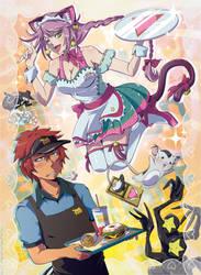 FaLLEN - Whimsical Waitress Pretty Showdown by OgawaBurukku