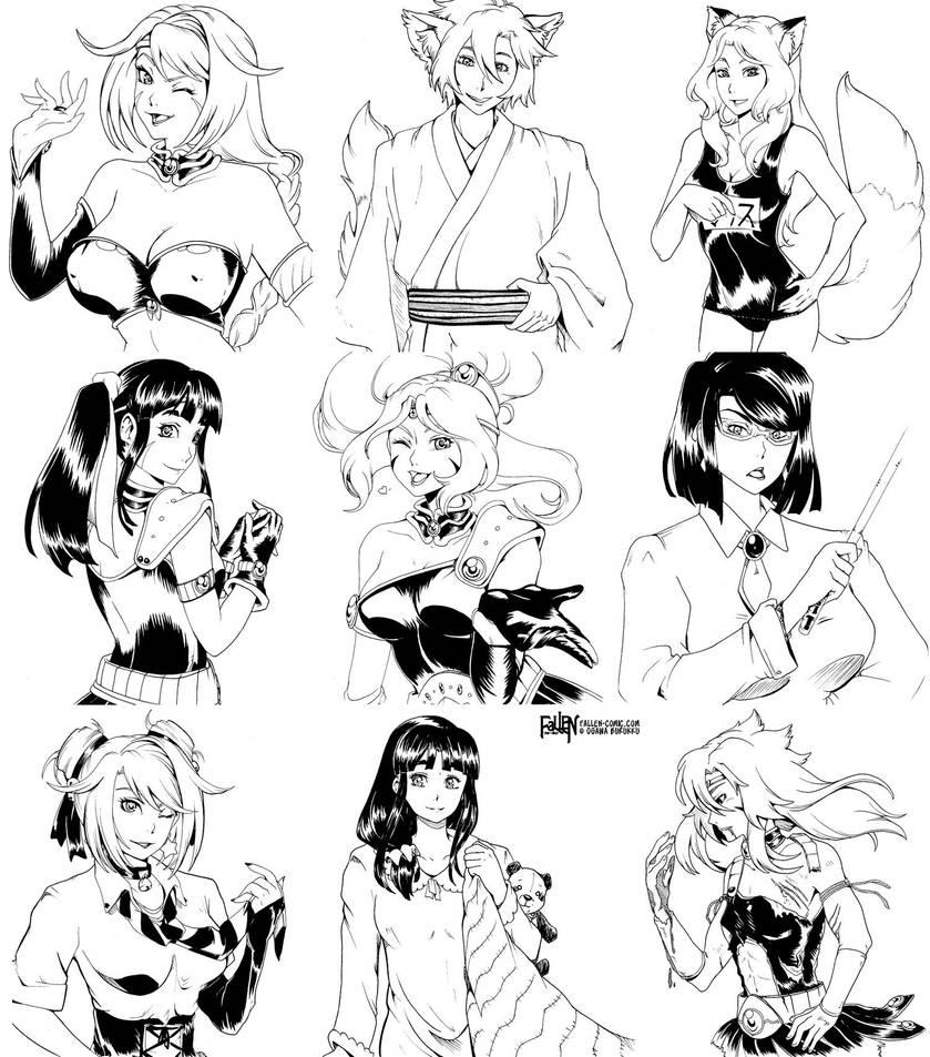 FaLLEN Vol. 2 Kickstarter Sketchboards #3 by OgawaBurukku