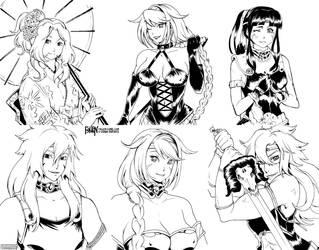 FaLLEN Vol. 2 Kickstarter Sketchboards #4 by OgawaBurukku