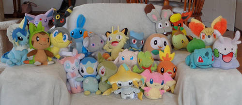 Lot Of Pokemon Plushies II by CheerBearsFan