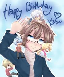 Happy VERY late Birthday Kasu by 46Akuma