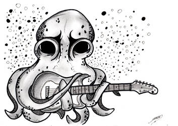 Octopus and a guitar inspired by John Frusciante by JPWalls