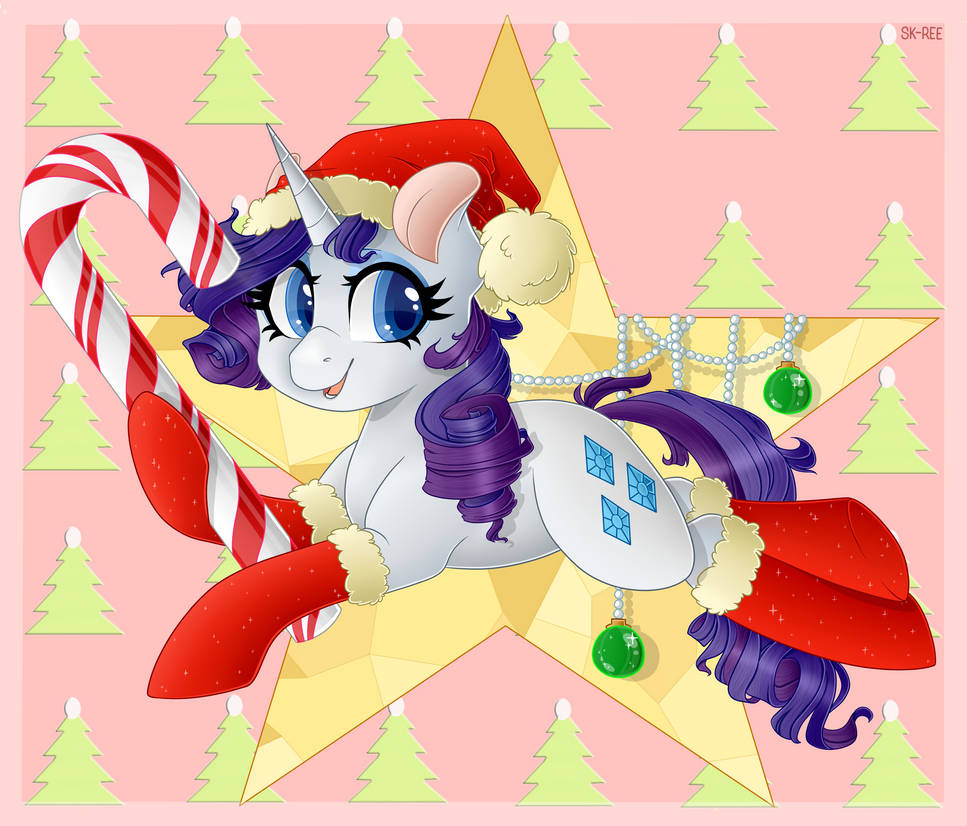 my_little_pony_christmas_rarity_by_sk_re