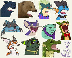 Screaming Icons: Round 2 by Flame-Shadow