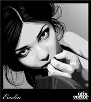 Black and white woman IV by AtixVector