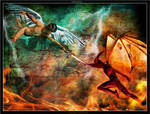 Battle Between Good And Evil by robertadelman
