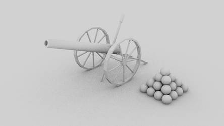 1800's Century Cannon - 3D Model - Blender by SeanWHall