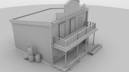 Western Building - 3D Model by SeanWHall