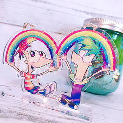 Phineas and Ferb acrylic key chain by modanspank
