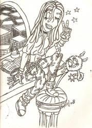 random goth girl by Azrael-DaGothicAngel