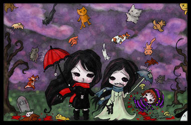 Raining cats and dogs by SpectralFairy