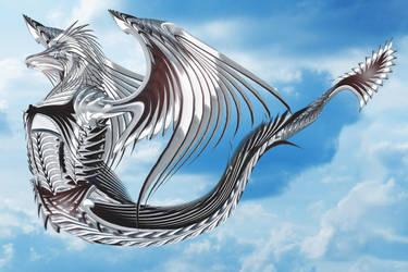 Platinum Gladius Dragon by ChickenChasser