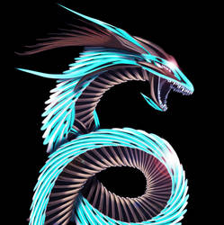 Sea Metal Dragon by ChickenChasser