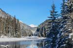 Duffey Lake in December by dashakern