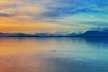Sunset over Boundary Bay by dashakern