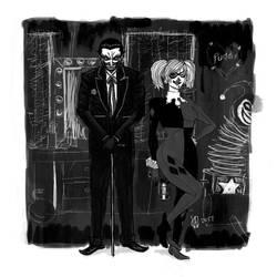 Harley and the Joker Card Variant by osvaldoVSARTS