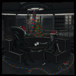 The Xenomorph Christmas by osvaldoVSARTS