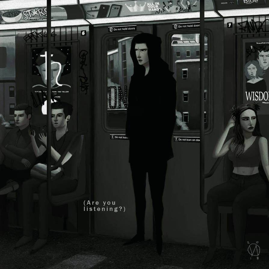 A boy in the metro. by osvaldoVSARTS