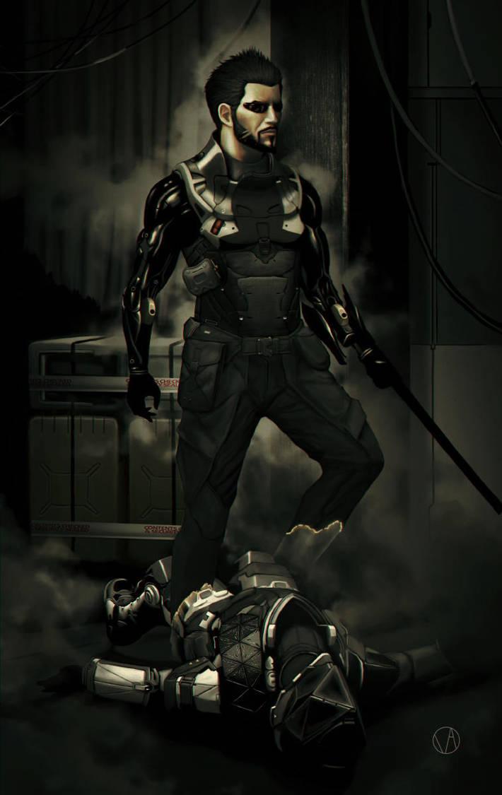 Lelantos (Deus Ex: Mankind Divided Fan Art) by osvaldoVSARTS