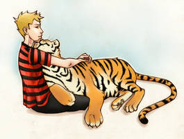 Calvin and hobbes by iv0rine