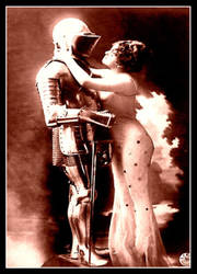 A Knight and His Lady by ErosMyth