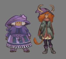 Muirne and Brigid by emmylunas