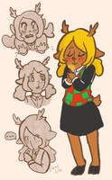 Noelle is very Deer by emmylunas