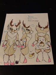 Tartsia the caribou fursona by Allicat1400