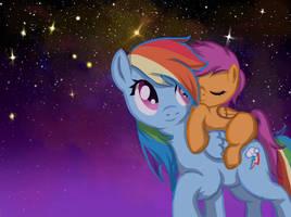 Pony Commission - Rainbow and Scootaloo by Jesuka