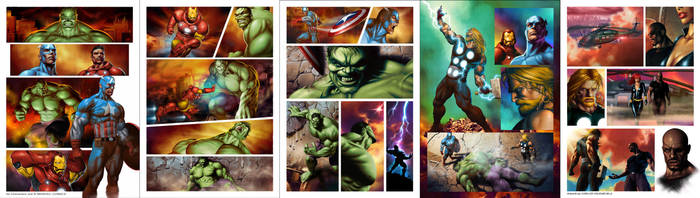 Marvel Heroes - Pages by CValenzuela