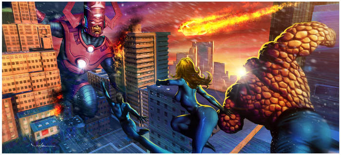 The coming of Galactus by CValenzuela